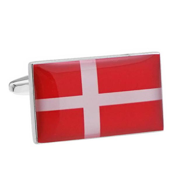 덴마크 국기 커프스