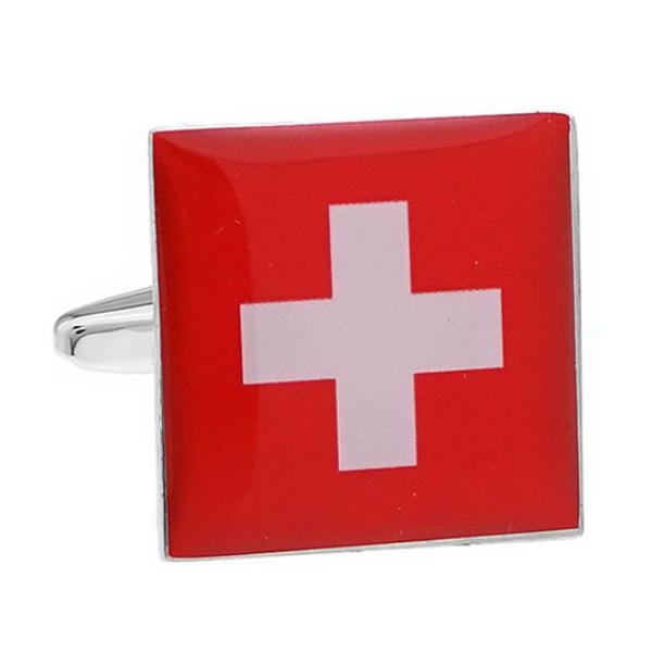 스위스 국기 커프스
