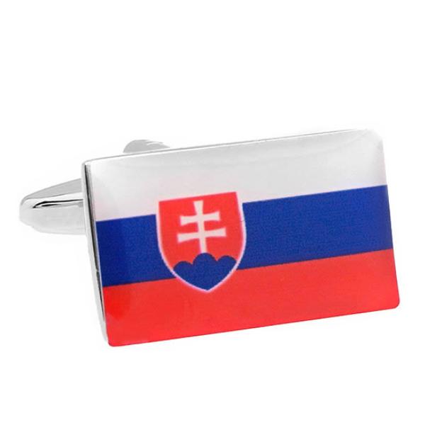 슬로바키아 국기 커프스