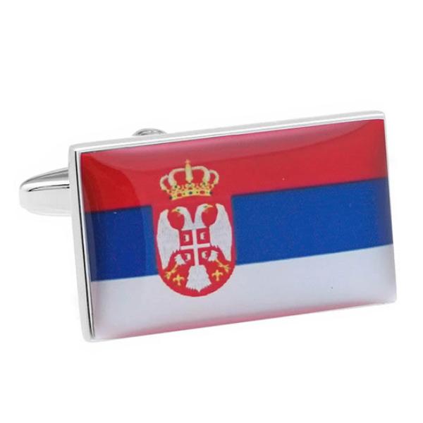 세르비아 국기 커프스
