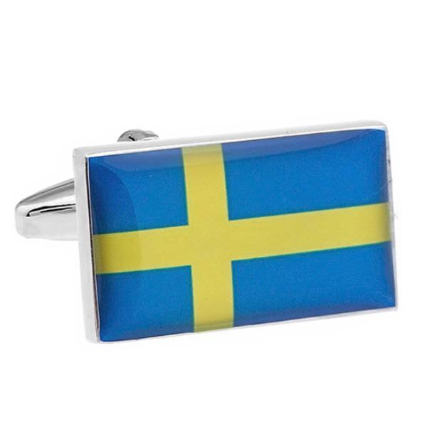 스웨덴 국기 커프스